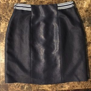 ELIE TAHARI NAVY SKIRT